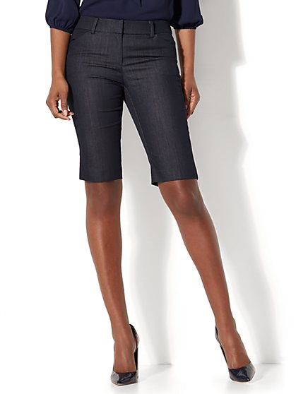 7th Avenue - Bermuda Short - Signature - Hidden Blue - New York & Company