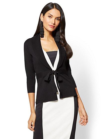 7th Avenue - Bow-Accent Shawl-Collar Cardigan - New York & Company