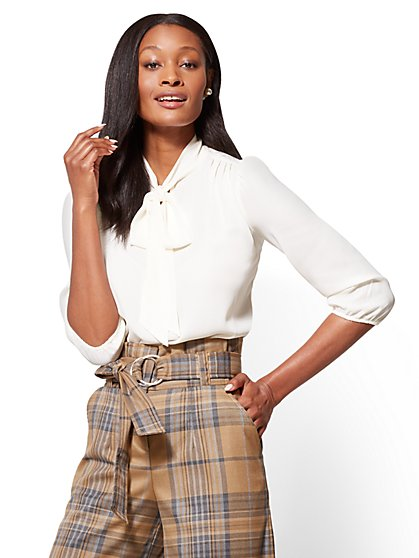7th Avenue - Bow Blouse  - New York & Company