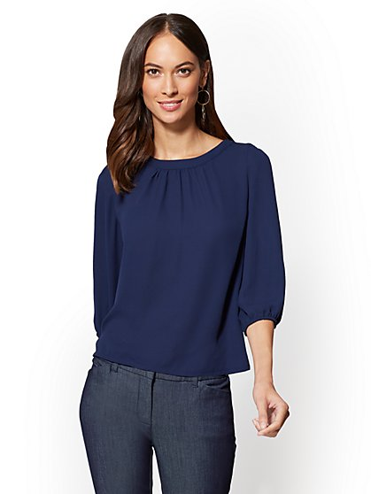 7th Avenue - Button-Back Blouse - New York & Company