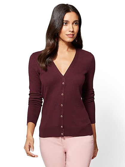 7th Avenue - Chelsea V-Neck Cardigan - New York & Company