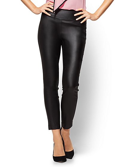 7th Avenue - Coated Pull-On Ankle Pant  - New York & Company