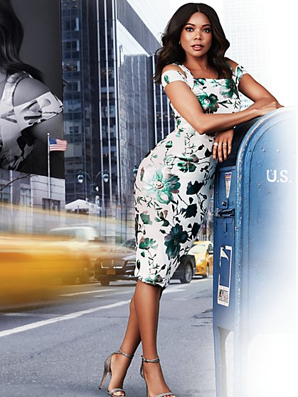 7th Avenue - Cold-Shoulder Sheath Dress - New York & Company