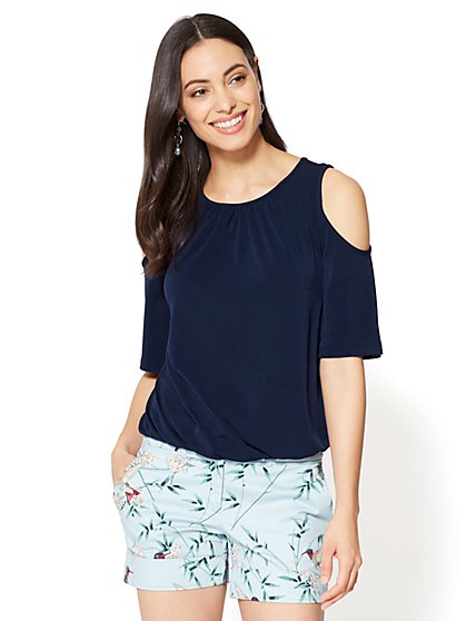 7th Avenue - Cold-Shoulder Top - New York & Company