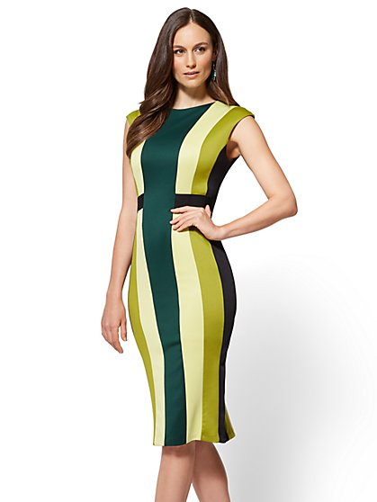 7th Avenue - Colorblock Sheath Dress  - New York & Company