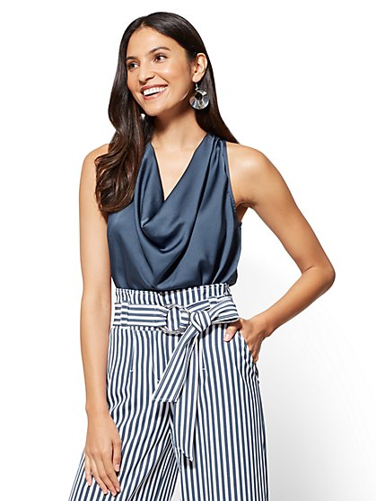 7th Avenue - Cowl-Neck Sleeveless Blouse - New York & Company