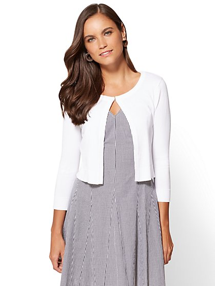 7th Avenue - Dress Cardigan - Rhinestone Trim - New York & Company