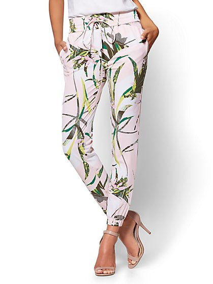 7th Avenue Floral Drawstring Jogger Pant - New York & Company
