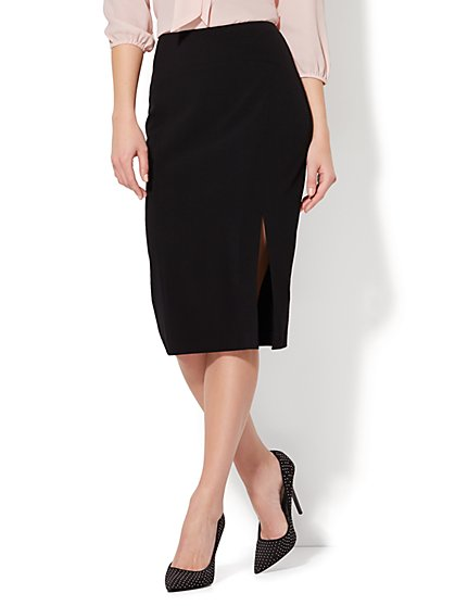 7th Avenue - Front Slit Pencil Skirt - Modern - Double Stretch - New York & Company