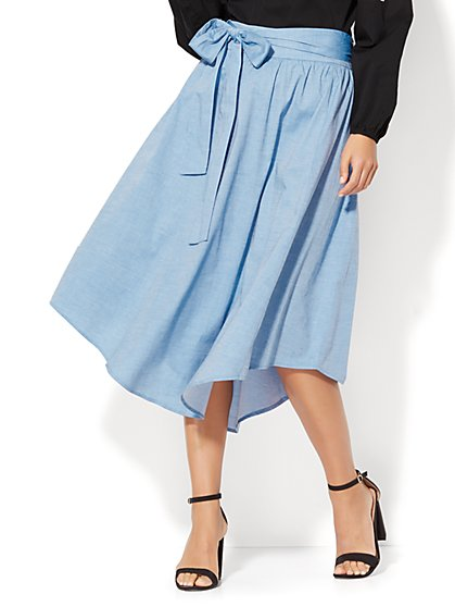 7th Avenue Full Skirt - Classic Blue Wash - New York & Company