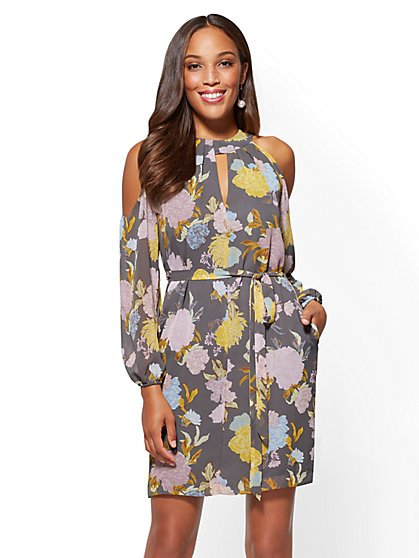 7th Avenue - Halter Shift Dress - Floral - New York & Company