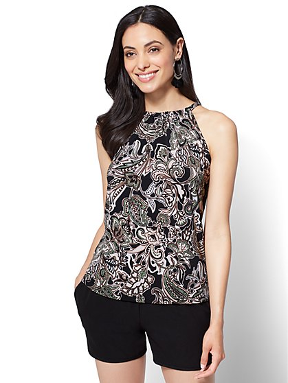 7th Avenue - Halter Top - Floral - New York & Company