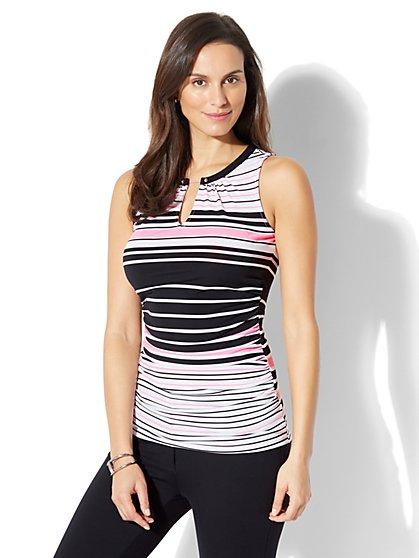 7th Avenue - Hardware-Accent Shell - Stripe - New York & Company