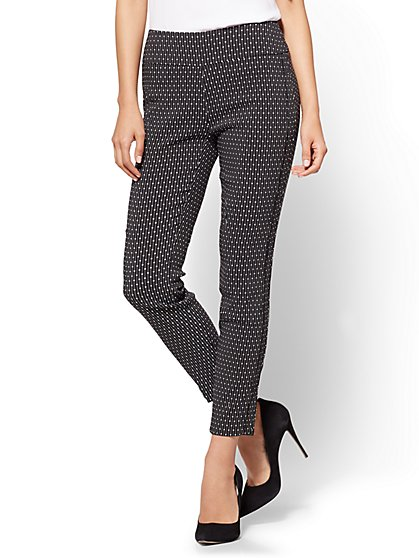 7th Avenue - High-Waist Pull-On Ankle Legging - Ultra Stretch - Dot Print - New York & Company