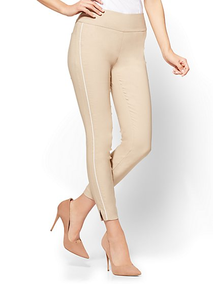 7th Avenue - High-Waist Pull-On Ankle Legging - Ultra Stretch - Khaki - New York & Company
