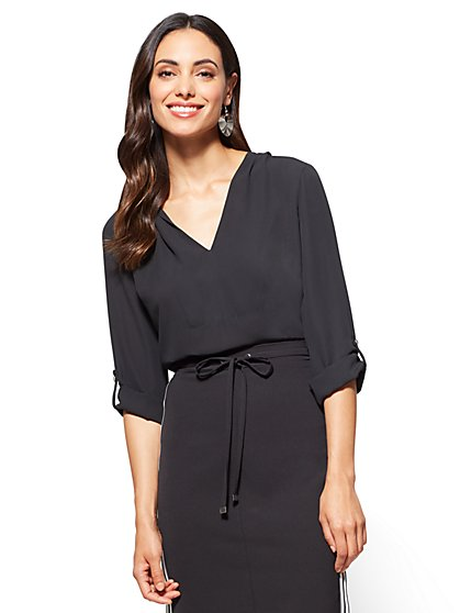 7th Avenue – Hooded Blouse - New York & Company