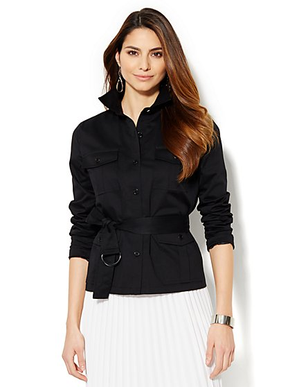 7th Avenue Jacket - Belted - Modern - Solid - New York & Company
