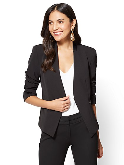 7th Avenue Jacket - Collarless - Black - New York & Company
