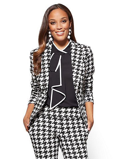 7th Avenue Jacket - One-Button - Modern - Houndstooth  - New York & Company