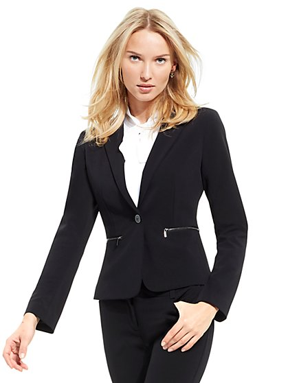 7th Avenue Jacket - One-Button - Modern - Zip Accent - Tall - New York & Company