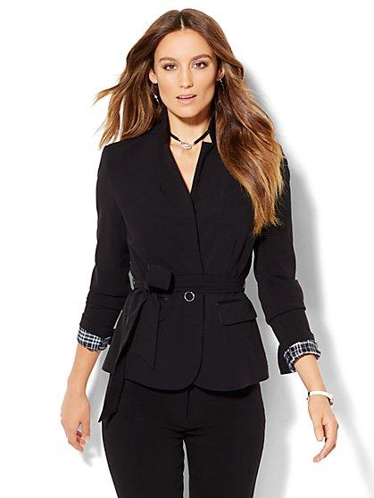7th Avenue Jacket - Tie-Waist - Signature - Double Stretch  - New York & Company