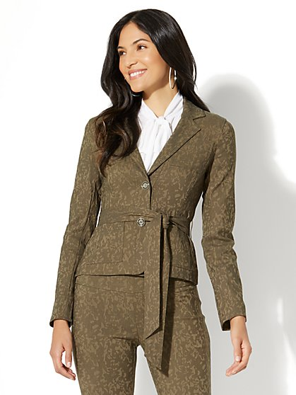 7th Avenue Jacket - Two-Button - Camo Print - New York & Company