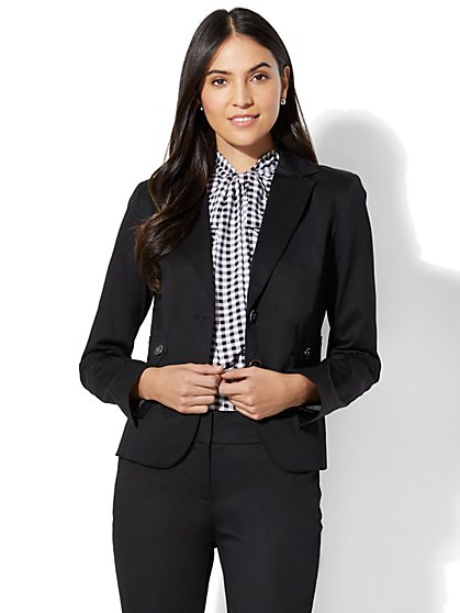 7th Avenue Jacket - Two-Button - Modern - Black - New York & Company