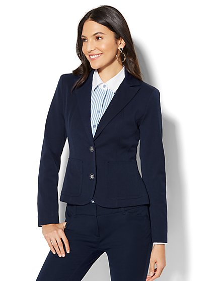 7th Avenue Jacket - Two-Button - Navy - New York & Company