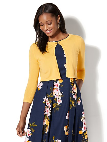 7th Avenue - Jewel-Accent Dress Cardigan - New York & Company