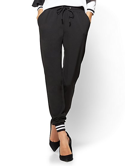 7th Avenue - Jogger Pant - Black  - New York & Company