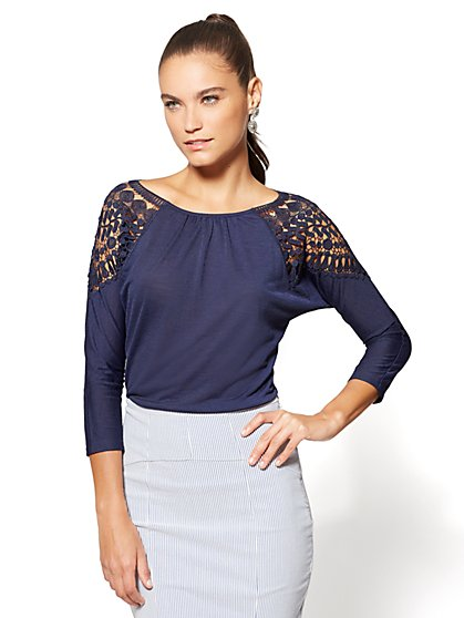 7th Avenue - Lace-Accent Top - New York & Company