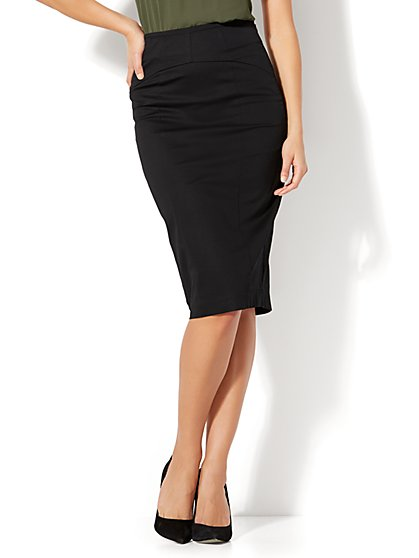 7th Avenue - Lace-Up Pencil Skirt - Tall - New York & Company