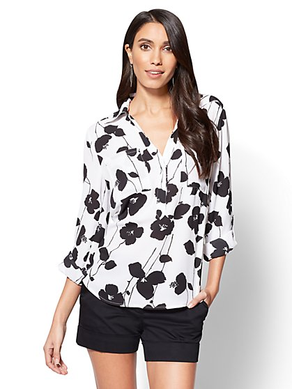 7th Avenue - Madison Soft Shirt - Floral - New York & Company