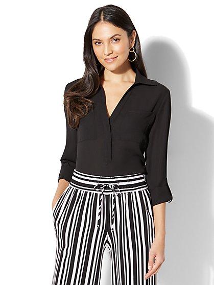 7th Avenue - Madison Soft Shirt - Solid - New York & Company