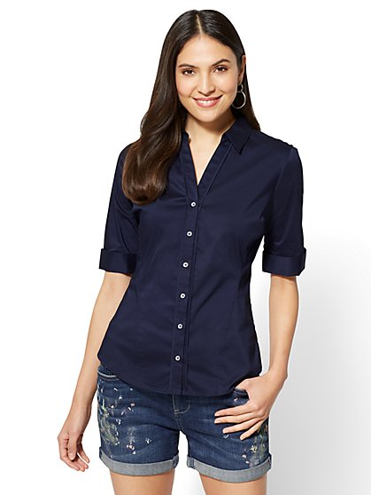 7th Avenue - Madison Stretch Shirt - Angled Seams - New York & Company
