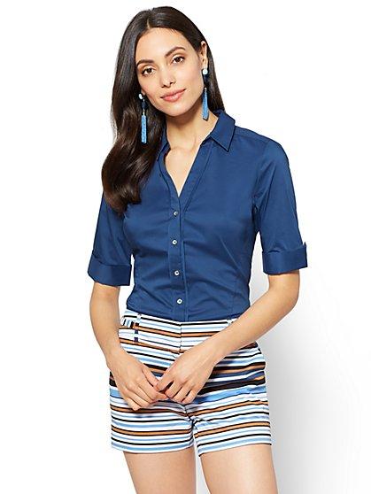 7th Avenue - Madison Stretch Shirt - Angled Seams - New York & Company