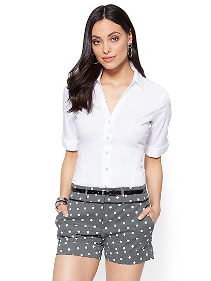 7th Avenue - Madison Stretch Shirt - Elbow-Length Sleeve - Tall - New York & Company