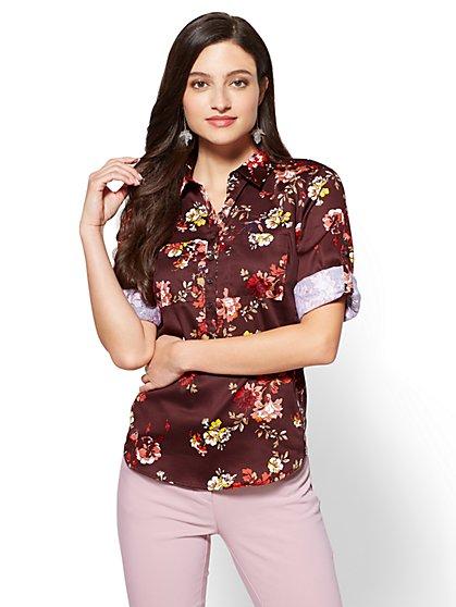 7th Avenue - Madison Stretch Shirt - Floral - New York & Company