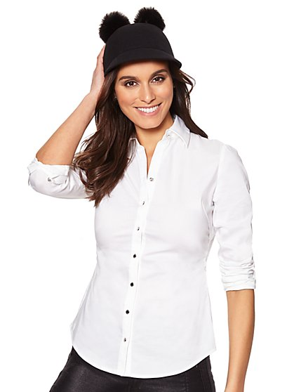 7th Avenue - Madison Stretch Shirt - Seamed - New York & Company