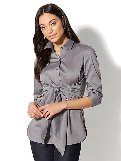 7th Avenue - Madison Stretch Shirt - Tie Waist - New York & Company