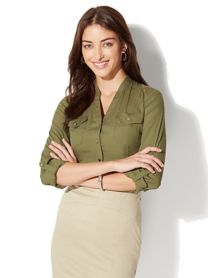 7th Avenue - Military Blouse - New York & Company