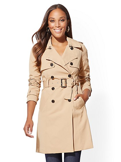 7th Avenue - NY Trench Coat - Double-Breasted - New York & Company