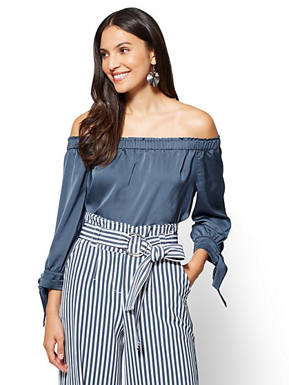 7th Avenue - Off-The-Shoulder Blouse - New York & Company