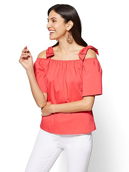 7th Avenue - Off-The-Shoulder Shirt - New York & Company