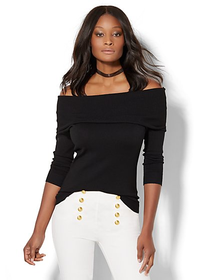 7th Avenue - Off-The-Shoulder Sweater  - New York & Company