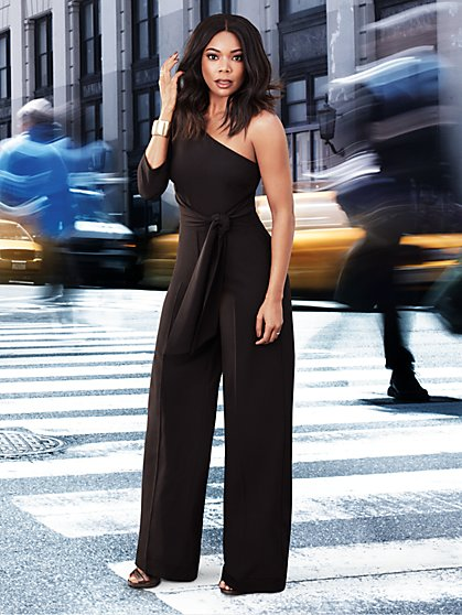 7th Avenue - One-Shoulder Jumpsuit - Tall - New York & Company