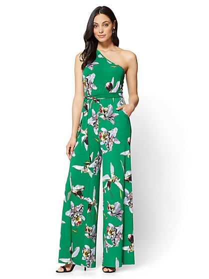 7th Avenue One-Shoulder Jumpsuit - Tall - New York & Company