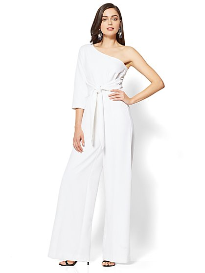 7th Avenue One-Shoulder Jumpsuit - New York & Company