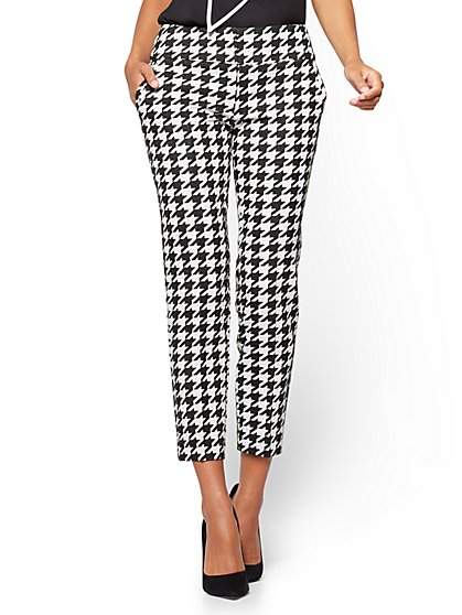 7th Avenue Pant - Ankle - Modern - Houndstooth Print  - New York & Company