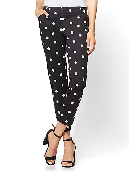 7th Avenue Pant - Ankle - Modern - Polka Dot - New York & Company